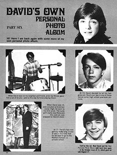 Star David, David Cassidy, Big Love, Personal Photo, Magazines, Music, Books, Artists, Journals