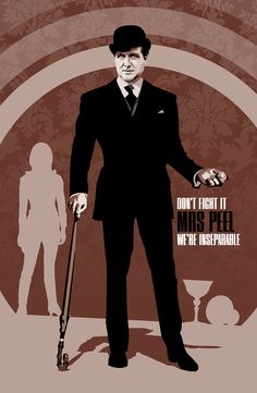 John Steed  The Avengers  17 x 11 Digital Print by DadManCult, $8.99