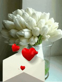 I love you my sweetheart Jerry Beautiful Gif, Beautiful Flowers, I Love U Gif, Birthday Wishes, Happy Birthday, Animated Heart, Gif Photo, Gif Pictures, Flower Images