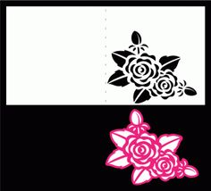 Rose Stencil Card by Bird's Cards