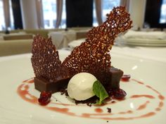 Restaurant Week Boston 2012 - Cioccolato: chocolate fudge cake, vanilla gelato, amarena cherries