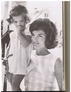 Carolyn Kennedy as a child with her mother Jackie Kennedy..just in time for Mother's Day