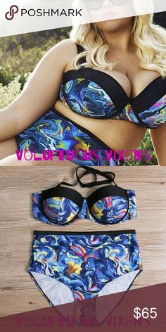 "{PLUS}Stunning Van Gogh Painting Themed Swimsuit Extremely unique boutique swimsuit with visions of Vincent Van Gogh artwork swirling around everywhere! Quality product and stylish contemporary design make this swimsuit a must have!!! Look how great the model looks! Perfect for your dream vacay or family staycay! Bust: 46-48"" Waist: 45-47"" Hips: 48-50""  Cup Size: D-E  FYI, this is a US 2X, but was purchased from a European wholesaler and has no size tag. Please refer to measurements above…"