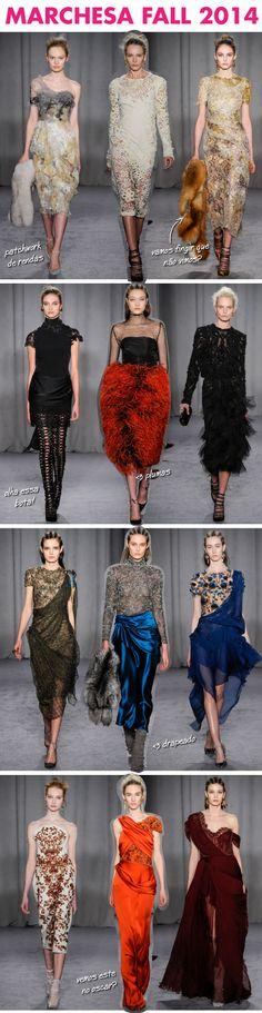 Marchesa, fall 2014, inverno 2014, desfile, nyfw, renda, corset, corselet, escocia, passarela, runway