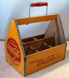 Vintage Coca Cola Coke Bottle Wood Carrier:
