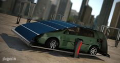 V-Tent is a Solar-Powered EV Charger That Protects Your Car | Inhabitat - Green Design, Innovation, Architecture, Green Building