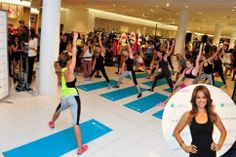 Brooke Burke-Charvet teaches a Booty Burn class during the launch of Caelum at Nordstrom at The Grove. Celebrity Fitness, Celebrity Workout, Brooke Burke, Celebs, Celebrities, Stay Fit, In Hollywood, Vip, Burns