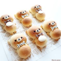 ould there possibly be anything cuter than these bunny breads! Rabbits with Carrots Bread 🥕🍞 Too cute to eat? Tag your ❤️ friends. Cute Snacks, Cute Desserts, Cute Food, Good Food, Yummy Food, Japanese Sweets, Japanese Food Art, Cute Baking, Food Art For Kids