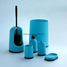 Bathroom Accessories Set Blue