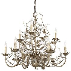 Ballard Designs Claire 9-Arm Grande Chandelier Bronze ($499) ❤ liked on Polyvore featuring home, lighting, ceiling lights, bronze chandelier, chain light, 9 light, bronze lamp and angled ceiling lights