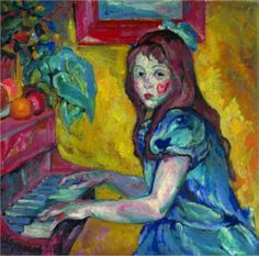 Portrait of daughter - Pyotr Konchalovsky