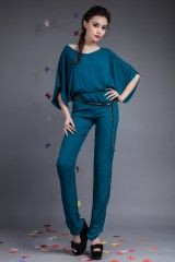 Salopeta Xonia Turcoaz- www.zonia.ro Spring Collection, Jumpsuit, Normcore, Casual, Shopping, Dresses, Style, Fashion, Overalls