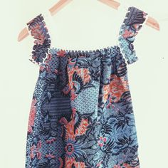Beautiful kids summer tunic in all its morning glory