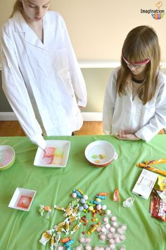 Charlie and the Chocolate Factory Candy Experiments - this looks so fun!