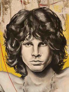 Shot Original oil painting on canvas 2020 | Ponzellini Devis Jim Morrison, Oil Painting On Canvas, Famous People, Icons, Portrait, The Originals, Art, Art Background, Headshot Photography