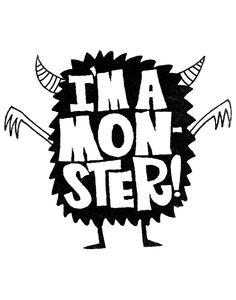 I'm a monster Sticker - Design By Humans Doodle Monster, Monster Drawing, Monster Art, Art Room Posters, Monster Stickers, Monster Illustration, Cute Monsters, Branding, Logo Design Inspiration