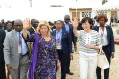 Dominique Ouattara Premiere Dame de Côte d'ivoire et Abe Akie ont communié avec…