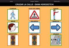 Tablero de comunicación para AraBoard: Cruzar la calle.    Tablero de comunicación sobre normas básicas que debemos seguir para cruzar la calle con precaución.    http://arasaac.org/materiales.php?id_material=937    Descargar AraBoard (versiòn para PC):    http://giga.cps.unizar.es/affectivelab/araboard.html      Descargar AraBoard (versión Android): Play Store.