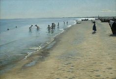 danish art Summer Day at the South Beach of Skagen Peder Severin Kroyer paintings for sale High quality Hand painted Stavanger, The Beach, Beach Art, South Beach, Skagen, Art Plage, Mary Cassatt, Manet, Oil Painting Reproductions