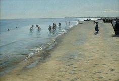 KRØYER, Peder Severin - Summer Day on Skagen's Southern Shore (1884) 154.5 x 213.3 cm (oil on canvas) (Hirschsprung Collection, Copenhagen)