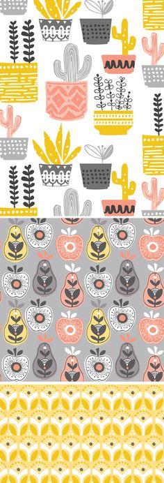 Fruit design illustration kitchens New Ideas Textiles, Textile Patterns, Print Patterns, Surface Pattern Design, Pattern Art, Pattern Design Drawing, Pattern Ideas, Pattern Designs, Motif Vintage