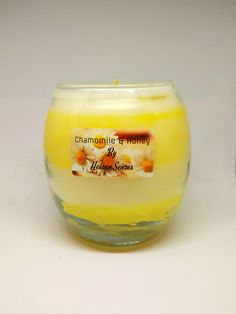 Chamomile, handmade, scented candle, aromatherapy, soy candle, large candle, Christmas gift, Chamomile scent, gift for men, Heaven Senses by HeavenSenses on Etsy