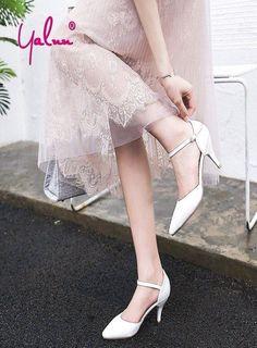 e30e17bd46a7 308 Wedding Shoes Bride White Party Elegant Bridal Shoes High Heels Pumps