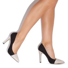 two tone pumps - black and tan