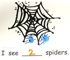 Counting spider book for Halloween math