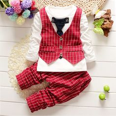 Find More Clothing Sets Information about New 2016 Spring Fashion Baby Boy Clothes Gentleman Suit Long Sleeve Stitching plaid vest and tie T shirt + Pants Clothing Set,High Quality t-shirt work,China clothing waterproof Suppliers, Cheap t-shirt tv from guangzhou fashion baby clothes on Aliexpress.com