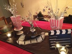 Posts about Movie night party written by kristinpotpie Movie Themes, Kids Party Themes, Party Ideas, Movie Ideas, Event Ideas, Sweet 16 Themes, 10th Birthday Parties, Birthday Ideas, Movie Night Party