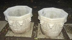 ... is Gold on Pinterest | Vintage planters, Stone planters and Outdoor