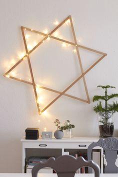 Leuchtender Stern - Wanddeko sorgt für Weihnachtstimmung