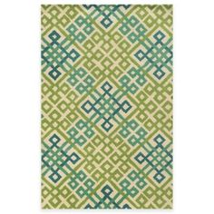 Rizzy Home Bradberry Downs Woven Tile Rug in Teal/Lime - BedBathandBeyond.com