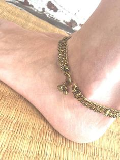 Eyre Imports ~ Products ~ Brass Bindi Anklet. ~ Shopify
