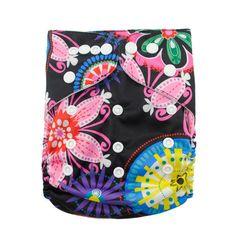 ALVA Reusable Washable Pocket Regular OS Baby Cloth Diaper Nappy+1Insert N43 #ALVA #AIOsize