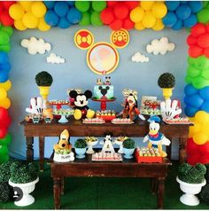Mickey Mouse Playhouse, Fiesta Mickey Mouse, Mickey Mouse Clubhouse Birthday Party, Mickey Mouse Parties, Toodles Mickey Mouse, Mickey 1st Birthdays, Mickey Mouse First Birthday, 2nd Birthday, Mickey Party Decorations