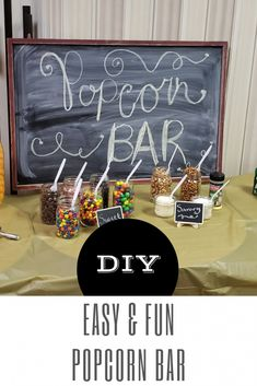 Easy & Fun Tips to creating a Popcorn Bar for gathers of all ages.
