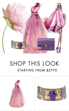 """""""I feel pretty"""" by mkdetail ❤ liked on Polyvore featuring Marchesa, Konstantino, N'Damus and Christian Louboutin"""