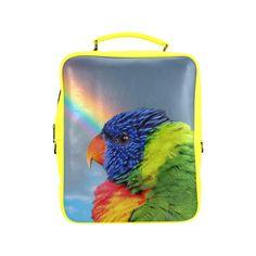 Rainbow Lorikeet Square Backpack. FREE Shipping. FREE Returns. #lbackpacks #parrots