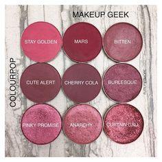 Colourpop VS Makeup Geek singles - Reds and Burgundies Makeup Vs No Makeup, Makeup Dupes, Makeup Goals, Love Makeup, Skin Makeup, Makeup Inspo, Makeup Inspiration, Beauty Makeup, Prom Makeup