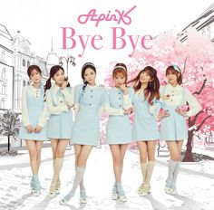 A Pink present a short version of 'Bye Bye' for their Japanese single Kpop Girl Groups, Korean Girl Groups, Kpop Girls, Girl Group Pictures, Japanese Singles, Sister Photography, Apink Naeun, Jacket Images, Pink Panda