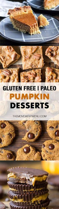 Top 15 of the most delicious, easy Paleo pumpkin desserts from around the internet. Healthy Paleo pumpkin desserts - gluten free, grain free, dairy free, refined sugar free & easy to make!
