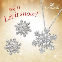 I love snow flake jewellery, so pretty!