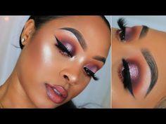 (437) Fall Smokey Halo Eye   Huda Beauty Obsessions Palette   Makeup Tutorial - YouTube