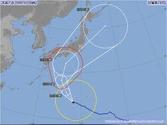 台風18号 2013年9月14日 06時時点 今回は本州の太平洋側に影響が有りそう