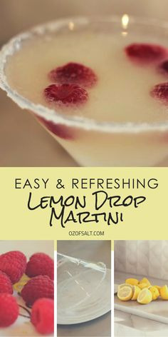 The Perfect Lemon Drop Cocktail The very best lemon drip martini recipe. Tastes like spring! Refreshing and easy to mix drink for a springtime barbecue or garden party. Made with fresh lemons, raspberries and the very best ingredients. Tequila Mixed Drinks, Easy Mixed Drinks, Mixed Drinks Alcohol, Alcohol Drink Recipes, Bourbon Drinks, Lemon Drop Martini, Lemon Drop Cocktail, Fireball Recipes, Martini Recipes