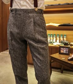Donegal Tweed Cargo Trousers