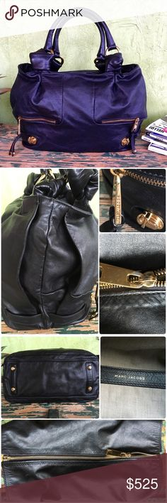 Marc Jacobs Mercer Parker Hobo Marc Jacobs Mercer Parker Hobo from Resort Collection 2008.. This buttery leather tote is drop dead gorgeous. I've literally carried 2x since owning. Excellent condition save for 2-miniscule dots on inside liner.  Also some normal tarnish on zipper pull. All other hardware is pristine. 17.5x12x5.5.. 8 in handle drop. Top zips open like a tote. NO OFFERS🚫LOWEST LISTED🚫BUY IT NOW OPTION ONLY🚫I ONLY TRADE FOR CASH😉 Marc Jacobs Bags Hobos