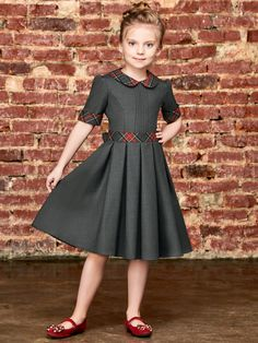 Eden Dark gray Excited to share the latest addition to my shop: Eden Dark gray Kids Dress Wear, Dresses Kids Girl, Baby Dress, The Dress, Kids Outfits, Children Dress, Children Clothing, Dress Girl, Italian Outfits